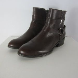 Ralph Lauren Margo 8 M Brown Leather Ankle Boots